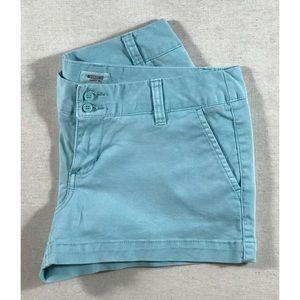 NWOT Mossimo Supply Turquoise Blue Shorts Sz 7